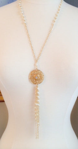 Western Inspired Vintage Pearl Necklace
