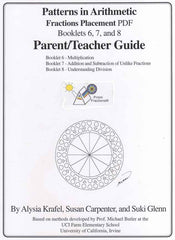Fractions Booklets 6, 7, and 8 Placement PDF
