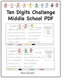 Ten Digits/Middle School PDF
