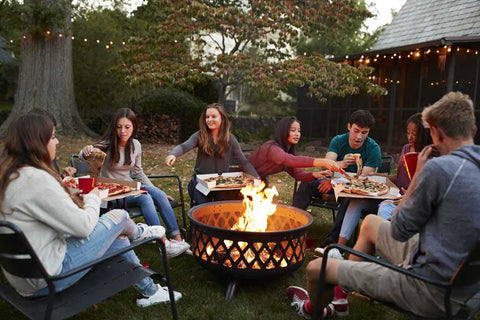 outdoor fire pit enjoy meal