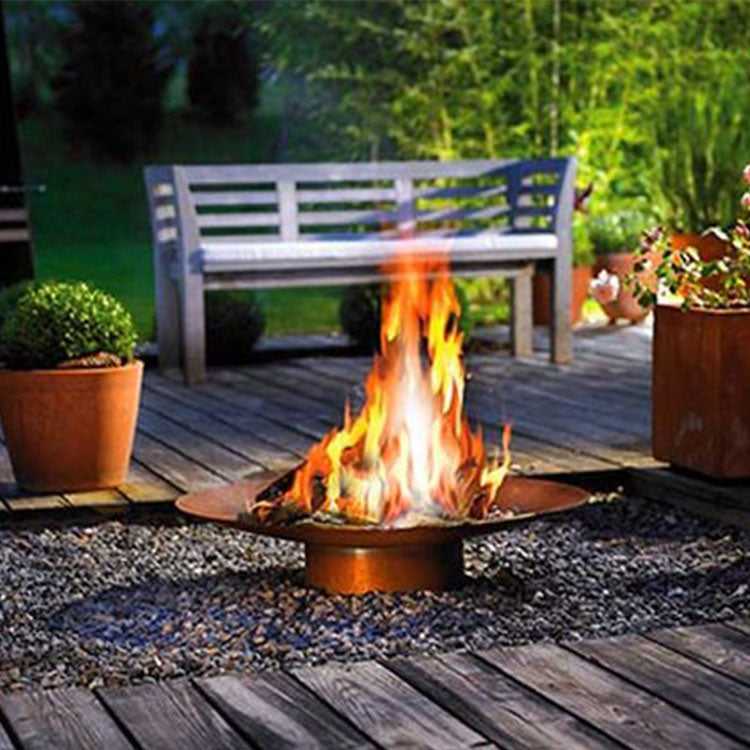 outdoor fire pit cooking Helia firepit