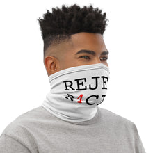 Load image into Gallery viewer, REJECT R4CI5M™ Neck Gaiter Black Letter