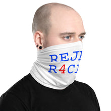 Load image into Gallery viewer, REJECT R4CI5M™ Neck Gaiter Blue Letter