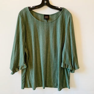 Primary Photo - BRAND: W5 STYLE: TOP SHORT SLEEVE COLOR: GREEN SIZE: 3X SKU: 298-29813-34723