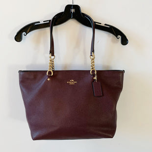 Primary Photo - BRAND: COACH STYLE: HANDBAG DESIGNER COLOR: BURGUNDY SIZE: MEDIUM SKU: 298-29814-72179