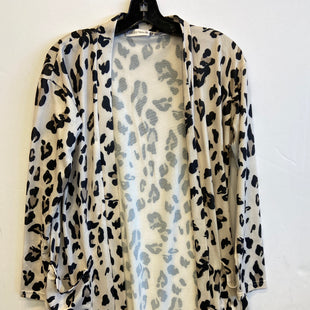 Primary Photo - BRAND: TICKLED TEAL STYLE: SWEATER CARDIGAN LIGHTWEIGHT COLOR: ANIMAL PRINT SIZE: M SKU: 298-29814-73032