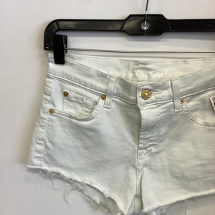 Primary Photo - BRAND: 7 FOR ALL MANKIND STYLE: SHORTS COLOR: WHITE SIZE: 0 SKU: 298-29862-1200