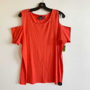 Primary Photo - BRAND: RAFAELLA STYLE: TOP SHORT SLEEVE COLOR: ORANGE SIZE: 2X SKU: 298-29811-50427