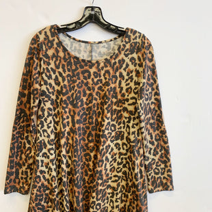 Primary Photo - BRAND:    CLOTHES MENTOR STYLE: DRESS SHORT LONG SLEEVE COLOR: ANIMAL PRINT SIZE: S SKU: 298-29813-34283
