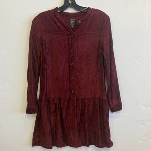 Primary Photo - BRAND: GAP STYLE: DRESS SHORT LONG SLEEVE COLOR: MAROON SIZE: XS SKU: 298-29835-22002