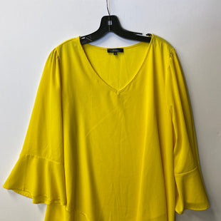 Primary Photo - BRAND: ANDREE BY UNIT STYLE: TOP LONG SLEEVE COLOR: YELLOW SIZE: 1X SKU: 298-29811-44083