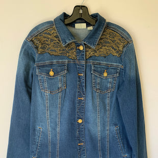 Primary Photo - BRAND: CHICOS STYLE: JACKET OUTDOOR COLOR: DENIM SIZE: L SKU: 298-29859-3951