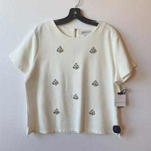 Primary Photo - BRAND: LIZ CLAIBORNE O STYLE: TOP SHORT SLEEVE COLOR: CREAM SIZE: XL SKU: 298-29813-34105