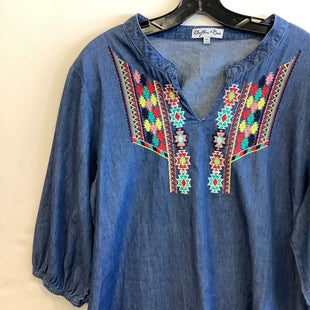 Primary Photo - BRAND:    CLOTHES MENTOR STYLE: TUNIC LONG SLEEVE COLOR: DENIM SIZE: XXL OTHER INFO: RHYTHM+ROSE - SKU: 298-29850-1509