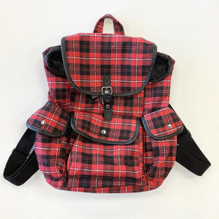 Primary Photo - BRAND:    CLOTHES MENTOR STYLE: BACKPACK COLOR: RED PLAID SIZE: MEDIUM SKU: 298-29814-72236