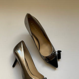 Primary Photo - BRAND: COACH STYLE: SHOES HIGH HEEL COLOR: SILVER SIZE: 9 SKU: 298-29859-6079