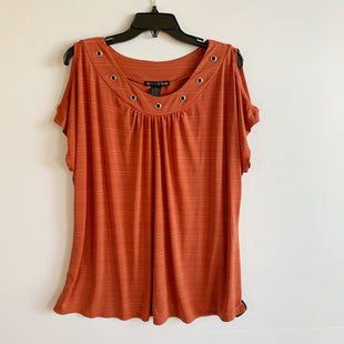 Primary Photo - BRAND: SUZIE IN THE CITY STYLE: TOP SHORT SLEEVE COLOR: ORANGE SIZE: 3X SKU: 298-29811-50426