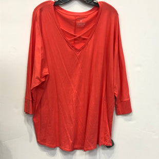 Primary Photo - BRAND: BOUTIQUE + STYLE: TOP SHORT SLEEVE COLOR: CORAL SIZE: 2X SKU: 298-29813-34961