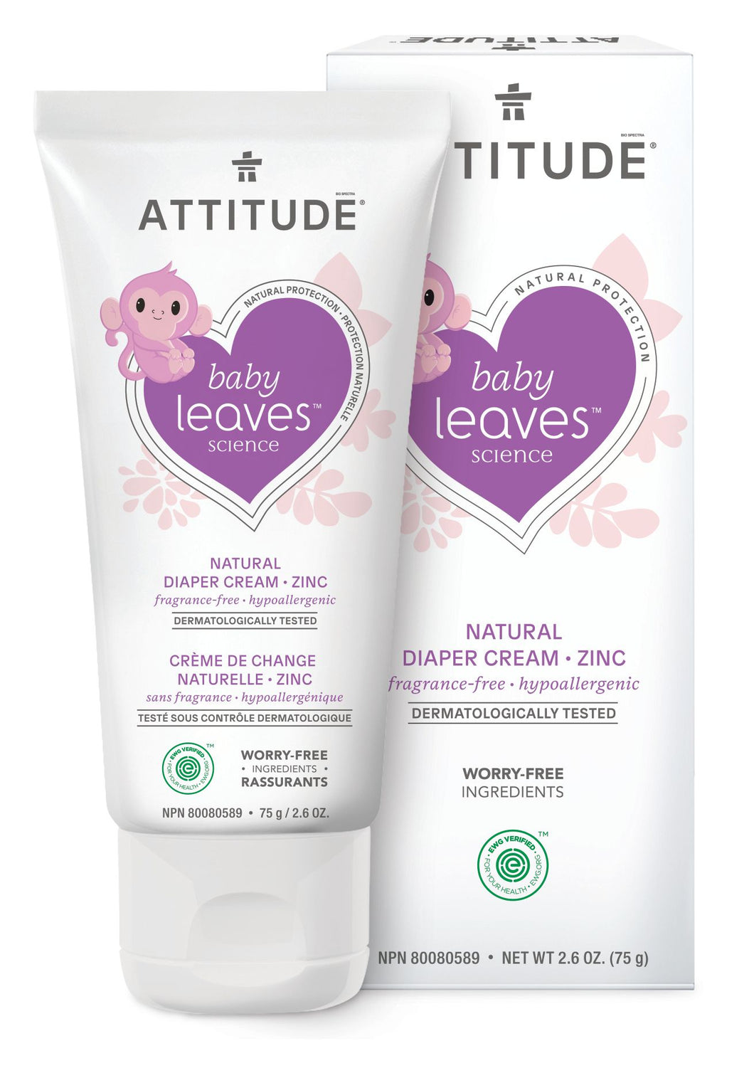 Attitude - Baby leaves billenzalf met zink