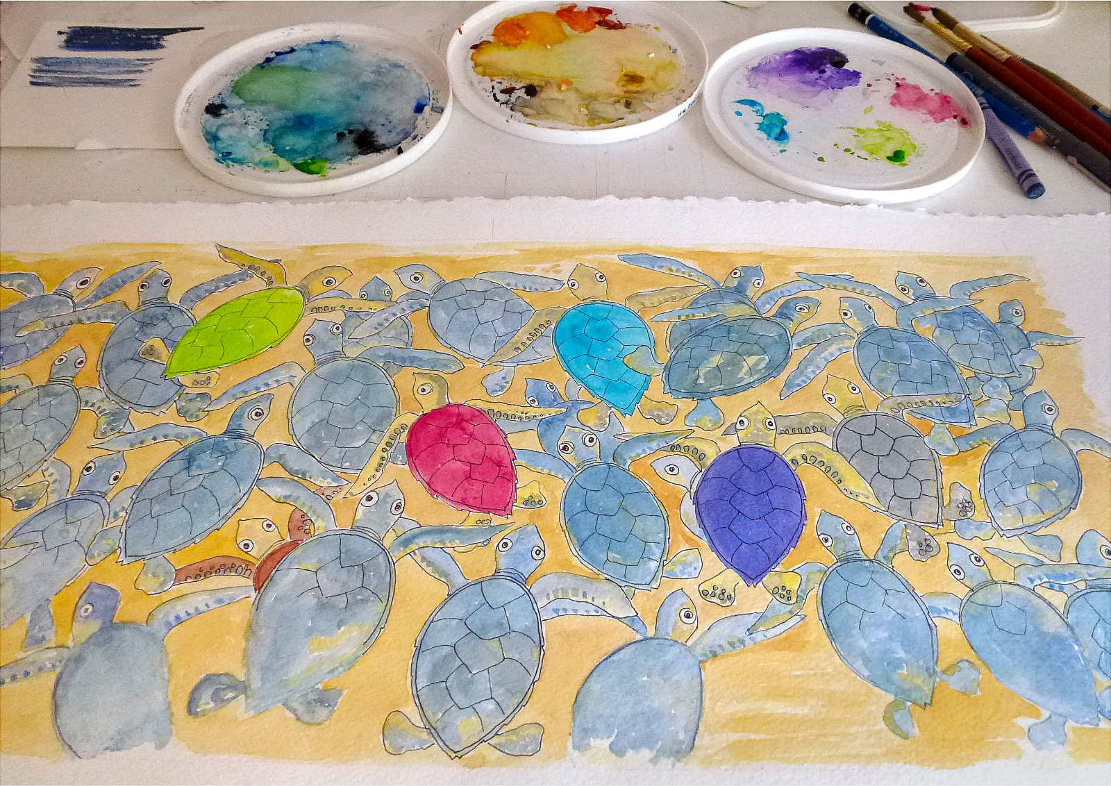 Painting the hatchlings