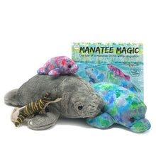 "Load image into Gallery viewer, Manatee Magic: Storybook, ""Hugh"", ""Munch"", ""Mini"" Manatee pink and ""Giz"" Gator Plush Toys (5 pieces)"