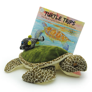 "Turtle Trips: Storybook, ""Gus"" Green Turtle and ""Dot"" Boxfish Plush Toys (3 pieces)"