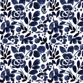Pre-Order Toddler Nest - In-Stock Fabric - Navy Floral