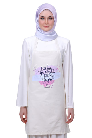 HELENA MERCHANDISE - APRON - BAKE THE WORLD