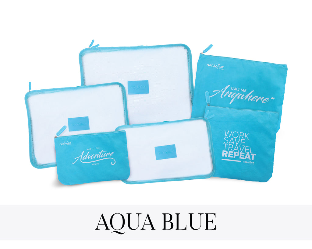 NAELOFAR TRAVEL SET - AQUA BLUE