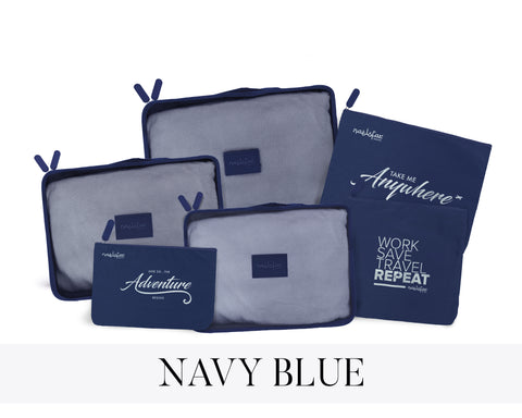 NAELOFAR TRAVEL SET - NAVY BLUE