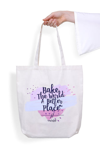 HELENA MERCHANDISE - TOTE BAG - BAKE THE WORLD