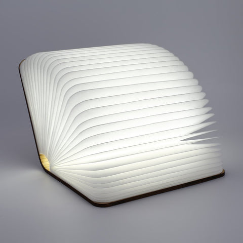 Book Shaped Wooden Foldable Lamp