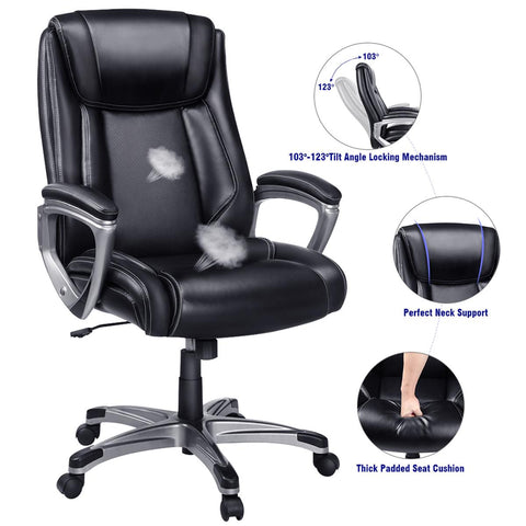 Swivel Leather Gaming Chair