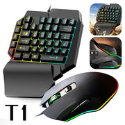 Wired Ergonomic Gaming LED Keyboard