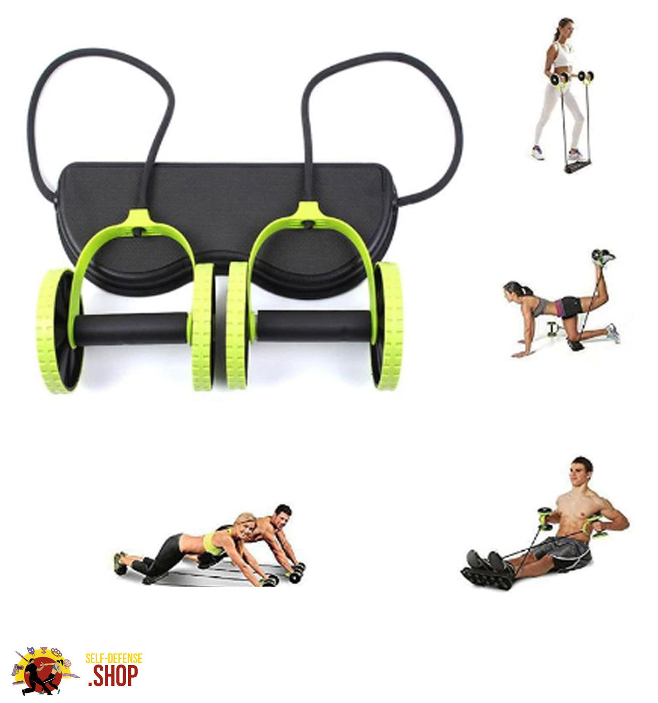 Muscle Exercise Double Wheel