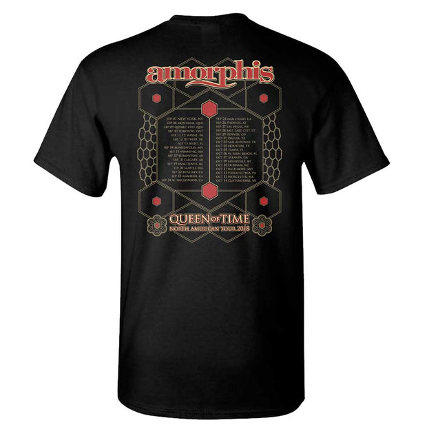 AMORPHIS Queen Of Time Date Back Black T-Shirt