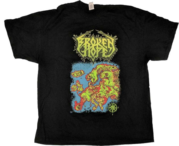 BROKEN HOPE Europe Carrion Tour Black T-Shirt