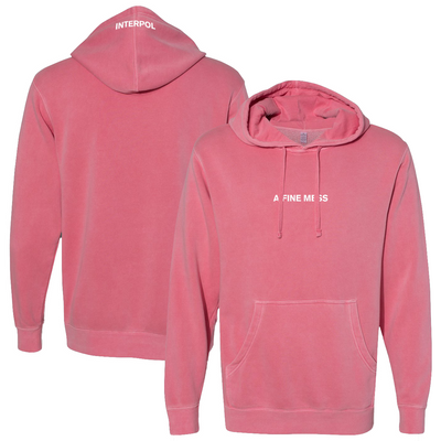 INTERPOL A Fine Mess Pink Pullover Hoodie