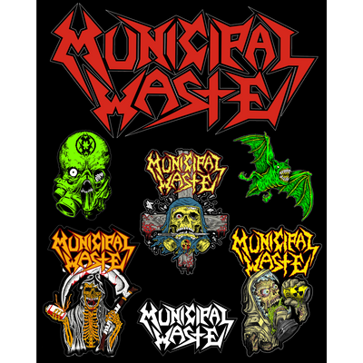 MUNICIPAL WASTE Sticker Sheet