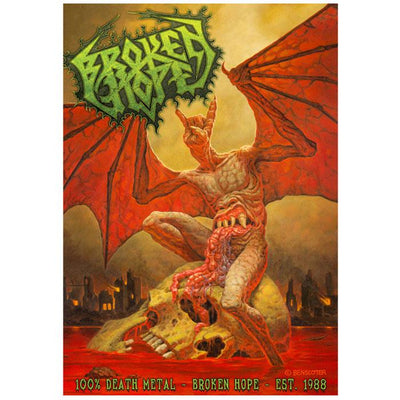 BROKEN HOPE Demon Hand 100% Death Metal Poster Flag