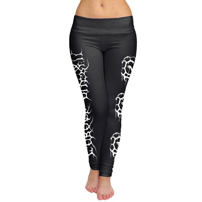 CARACH ANGREN White Logo Black Leggings