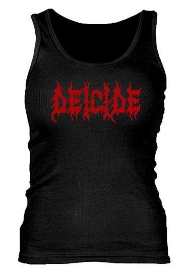 DEICIDE Red Logo Ladies Ribbed Tank Top