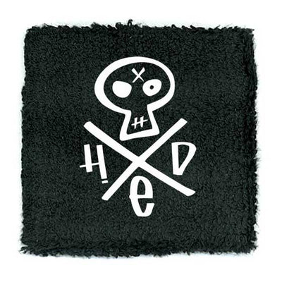 HED PE Embroidered Skull Wristband