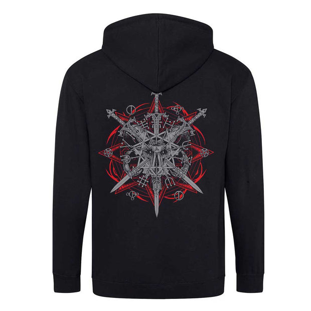 INCANTATION Triple Swords Zip Hoodie