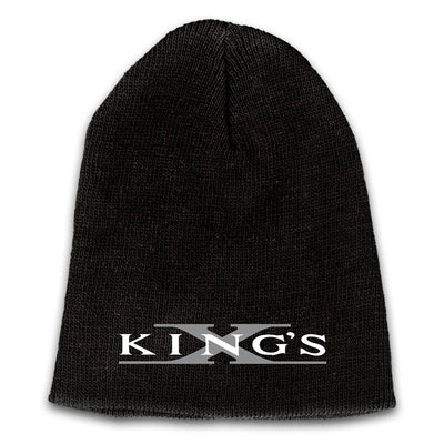 KING'S X Emblem Embroidered Logo Beanie - Grey X
