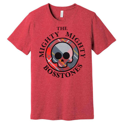 MIGHTY MIGHTY BOSSTONES Plaid Skull Ladies T-Shirt