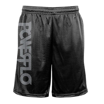 POWERFLO Silver Logo  Mesh Shorts