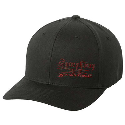 SYMPHONY X 25th Anniversary - Red Logo Flex Fit Hat