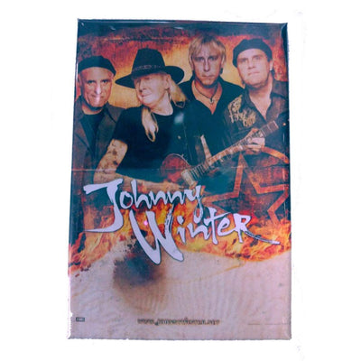 JOHNNY WINTER Band Photo 2x3 Magnet