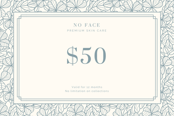NO FACE Gift Certificate - Vintage
